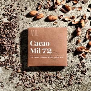Barra de Chocolate al 72% con Nibs